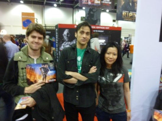 Sam (in a Konoha jounin costume), Mark Meer and me
